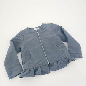 Gymboree Gray Ruffle Jacket SZ 3T K28